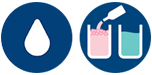 Water droplet and detergent icons