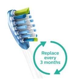 Philips Sonicare AdaptiveClean Brush head to be replaced every three months