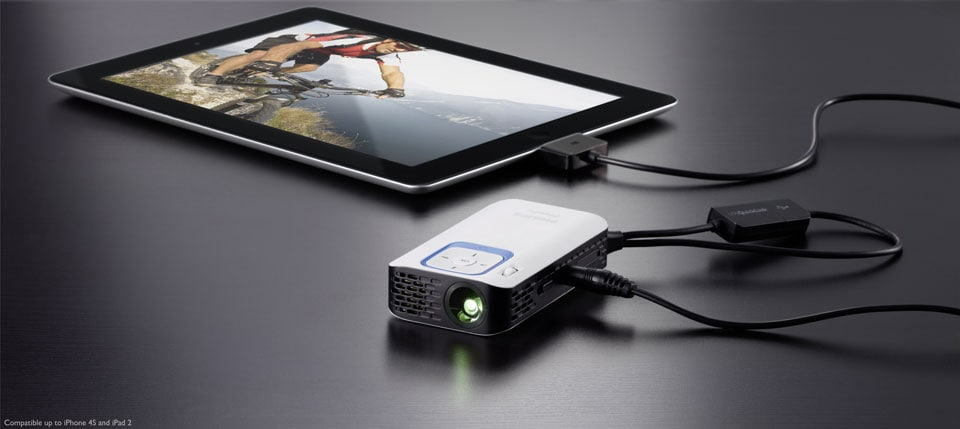 Mobile projectors discover the full range philips for Ipad mobile projector