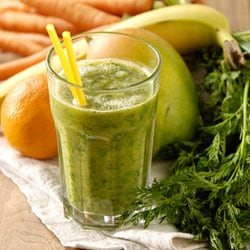 Orange Carrot Green Smoothie