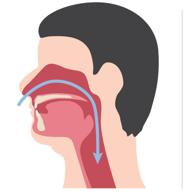 Non obstructed and obstructed airways