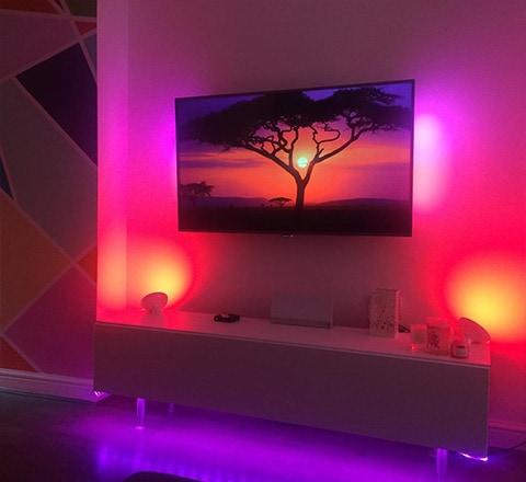 Light effects on Ambilight TV | pink purple orange red