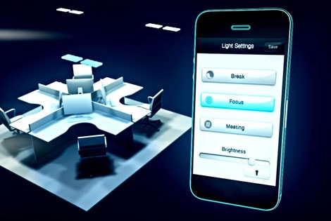 Control your office lighting with your smartphone